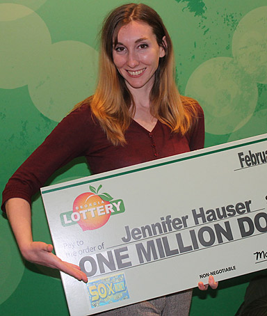 Georgia lottery winner Jennifer Hauser