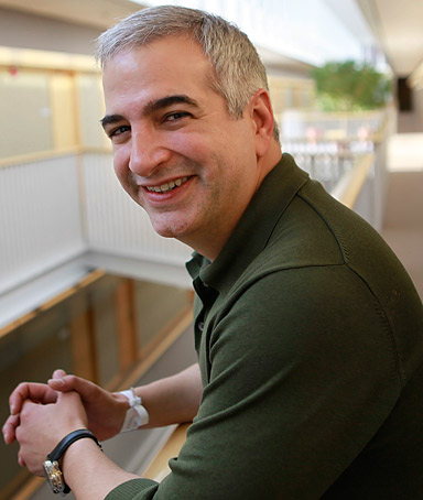 In this April 12, 2010 file photo, Anthony Shadid, poses for a portrait at the Watson Institute for International Studies, on the campus of Brown University, in Providence, R.I.
