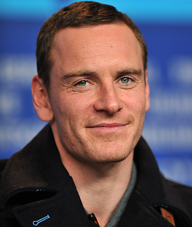 Irish-German actor Michael Fassbender gives a press conference to present the film