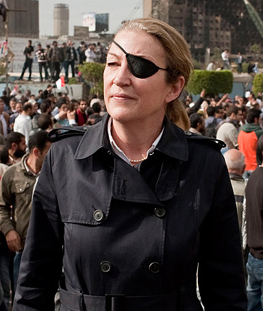 A handout picture obtained in London on February 22, 2012, from British newspaper the Sunday Times, shows US war correspondent Marie Colvin in Cairo, Egypt.