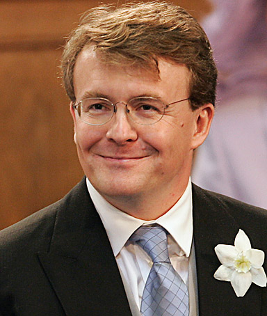 Prince Johan Friso, son of Queen Beatrix, smiles during his wedding in the Oude Kerk in Delft in this April 24, 2004 file photo.