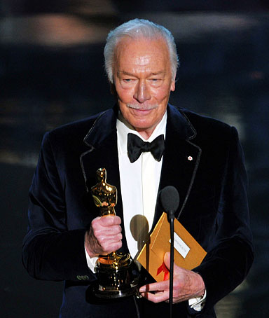 Actor Christopher Plummer accepts the Best Supporting Actor Award for 'Beginners' onstage during the 84th Annual Academy Awards held at the Hollywood & Highland Center on February 26, 2012 in Hollywood, California.