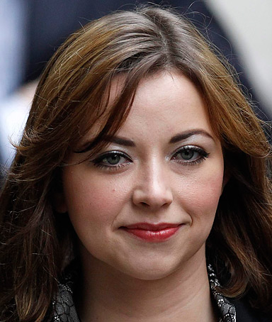 British singer Charlotte Church arrives at a division of the High Court, in central London, February 27, 2012.