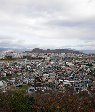 In this Sunday, Nov. 20, 2011 photo the city of Fukushima is seen in northeast Japan.