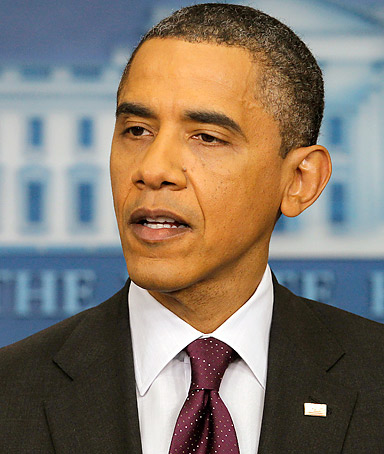 President Barack Obama delivers remakes during a press conference in the Brady Briefing Room at the White House in Washington, Tuesday, March 6, 2012.