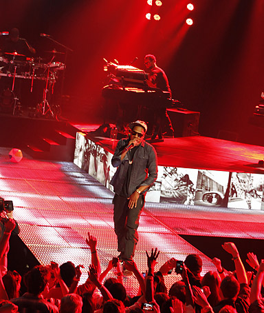Jay-Z performs at the AMEX Sync Showat during SXSW in Austin, Texas on Monday, March 12, 2012.