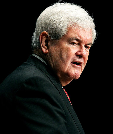 Republican presidential candidate and former Speaker of the House Newt Gingrich speaks during the Gulf Coast Energy Summit at the Mississippi Coast Coliseum on March 12, 2012 in Biloxi, Mississippi.