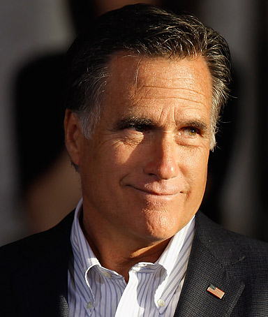 Republican presidential candidate, former Massachusetts Gov. Mitt Romney holds a town hall-style campaign event at RC Fabricators April 10, 2012 in Wilmington, Delaware.