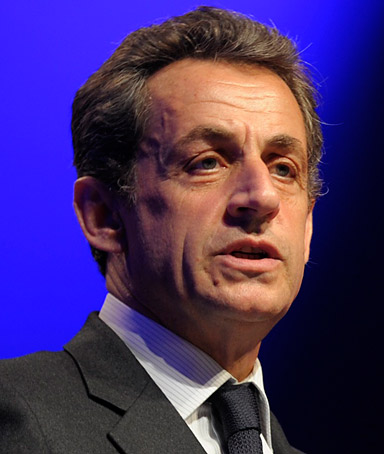 Nicolas Sarkozy, France's president and UMP candidate for the 2012 French presidential election, delivers a speech during a political rally in front of local councillors as part of his re-election campaign in Paris April 11, 2012.