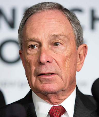 Michael Bloomberg, mayor of New York City speaks during a news conference calling for the the reform or repeal of Florida style