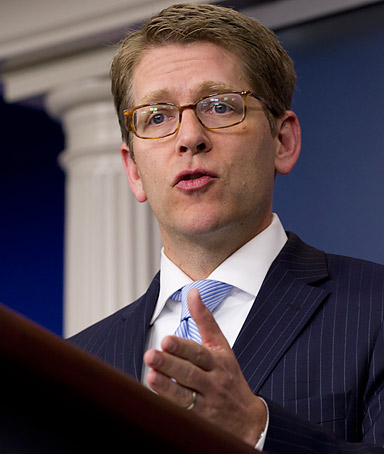 White House Press Secretary Jay Carney speaks during his daily news briefing at the White House, Friday, March 23, 2012, in Washington.