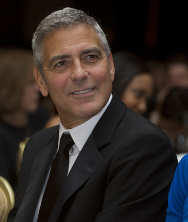 Actor George Clooney attends the White House Correspondents Association Dinner in Washington, DC, April 28, 2012