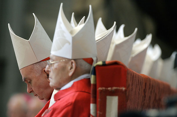 Cardinals and bishops gathered at St. Peter's Basilica at the Vatican for a  special Mass celebrated by Pope Benedict XVI for cardinals and bishops who have died over the past year.
