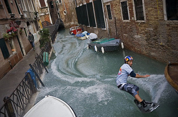 christmas shopping venice flooding wakeboarding
