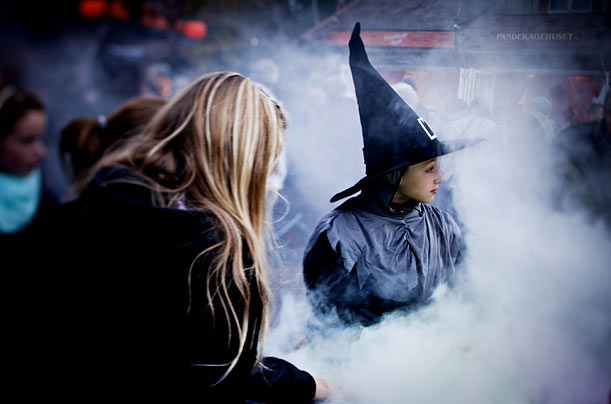 People dress up for a 10-day Halloween festival in Copenhagen that attracted some 250,000 visitors last year.
