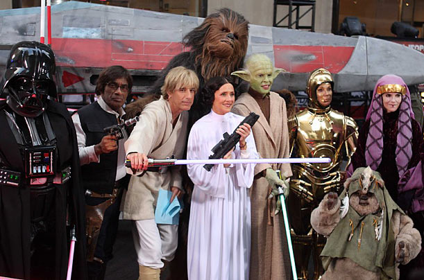 The cast of the Today Show dressed up as characters from Star Wars for their Halloween themed show.