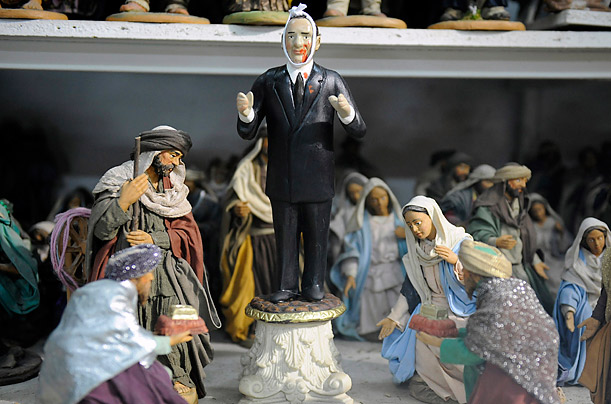 A Berlusconi Nativity scene