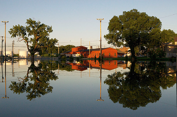 Morgan Park, a historic German neighborhood, is under flooded after torrential rain fell over Tennessee causing massive flooding damage in Tennessee.