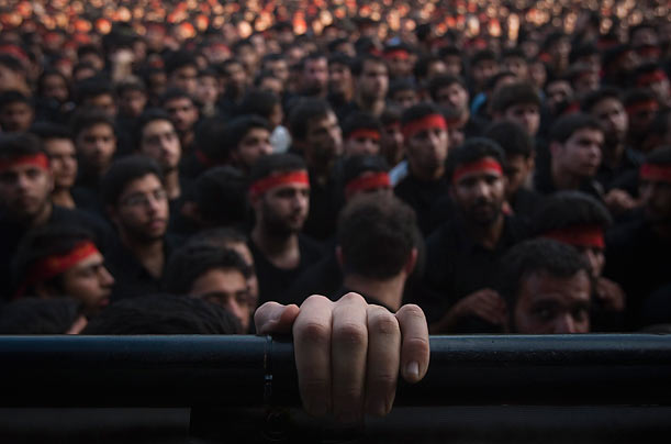 Iranians take part in a religious ceremony to commemorate the death anniversary of Fatima, daughter of Prophet Mohammad, in southern Tehran.
