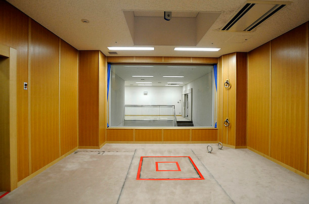 An execution chamber is pictured at the Tokyo Detention Center. Japan opened up its gallows for the first time to domestic media on Friday.