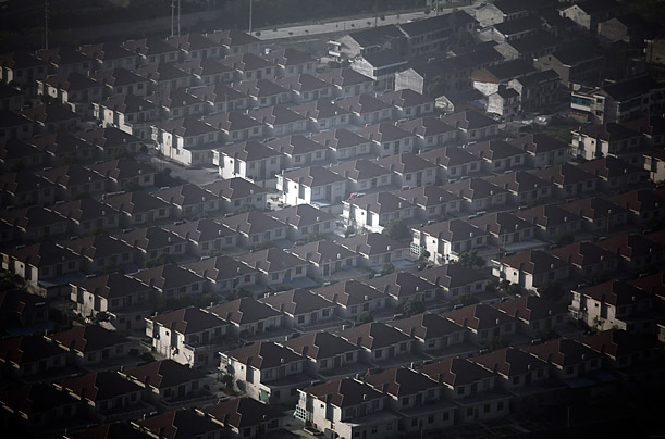New houses are seen in Huaxi village, China's richest village in Jiangsu province.