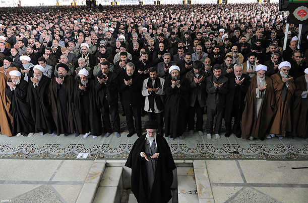 Friday prayer is led by Iran's supreme leader Ayatollah Ali Khamenei in Tehran.