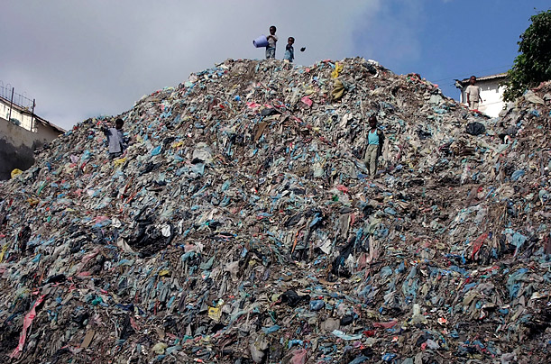 Children sift through a mountain of garbage in Mogadishu's southern Hamarjajab neighborhood.