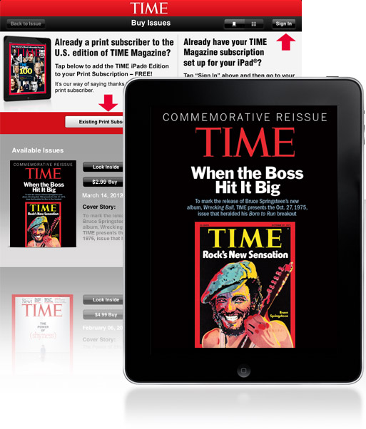 TIME Commemorative Reissue on the iPad