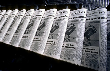 Ted Horowitz Corbis New York Daily News Newspapers Roll Off The Printing Press