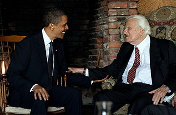 Image result for obama billy graham