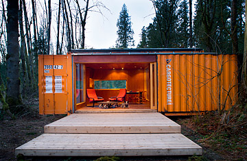 architects recycle cargo containers in new housing trend time. Black Bedroom Furniture Sets. Home Design Ideas