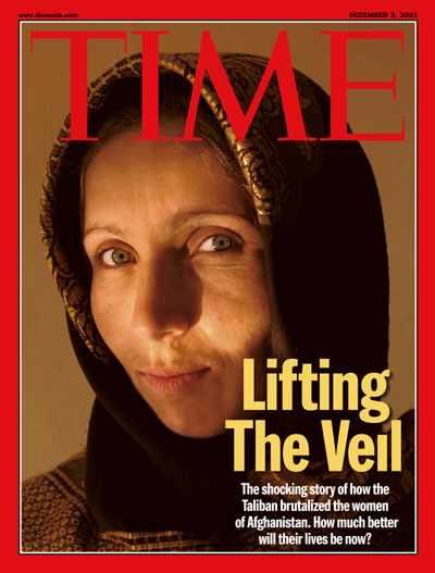 time Afghan cover girl