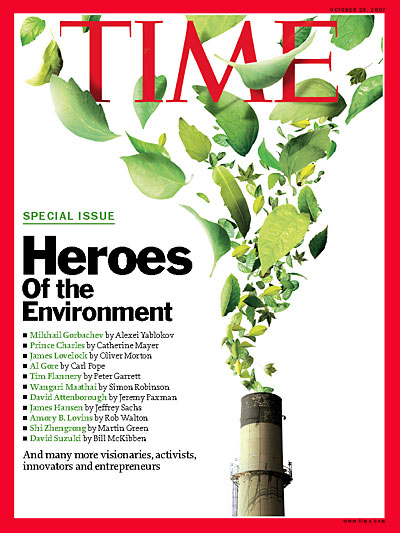 Time Magazine Cover Heroes Of The Environment Oct 29