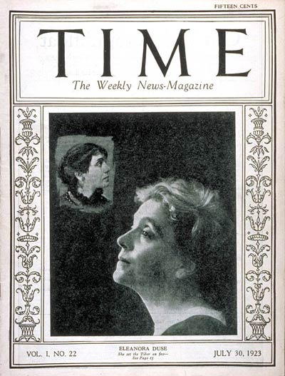 TIME Magazine Cover: Eleanora Duse - July 30, 1923 - Theater - Actresses -  Broadway