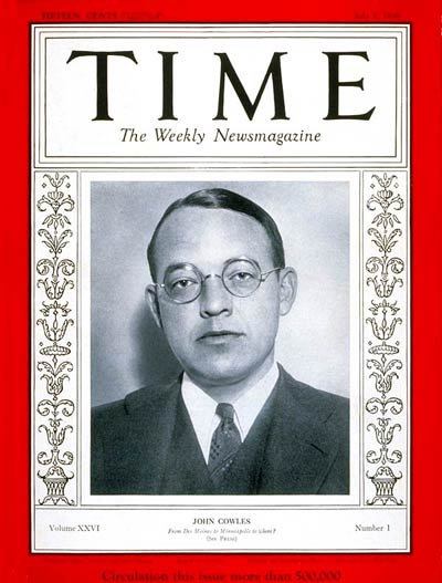 magazine cover template publisher - time magazine cover john cowles july 1 1935 publishing