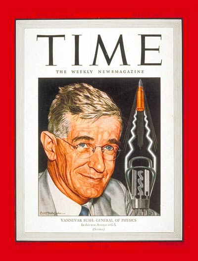 what invention did vannevar bush wrote about in 1945 essay