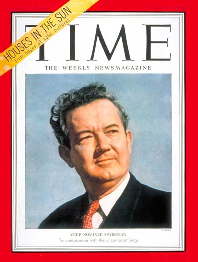 Time Magazine Cover John J Sparkman Aug 11 1952