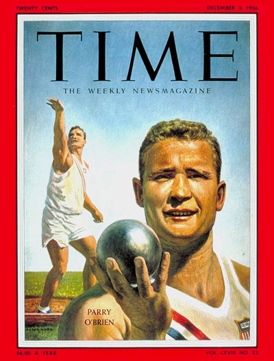 Time Magazine Cover Parry O Brien Dec 3 1956 Track