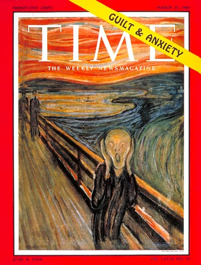 TIME Magazine Cover: Guilt and Anxiety - Mar  31, 1961 - Painters