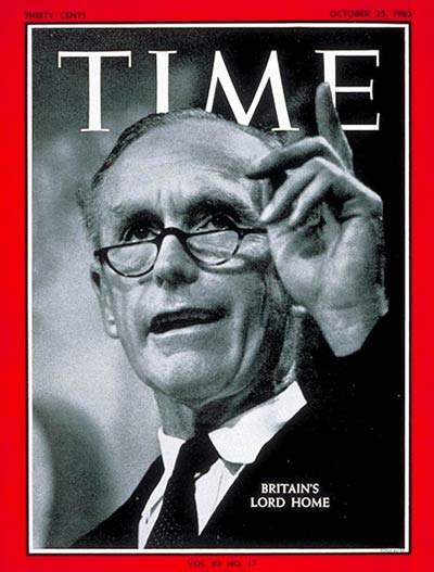 Time Magazine Cover Sir Alec Douglas Home Oct 25 1963