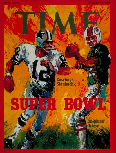 Time Magazine Cover Roger Staubach And Bob Griese Jan