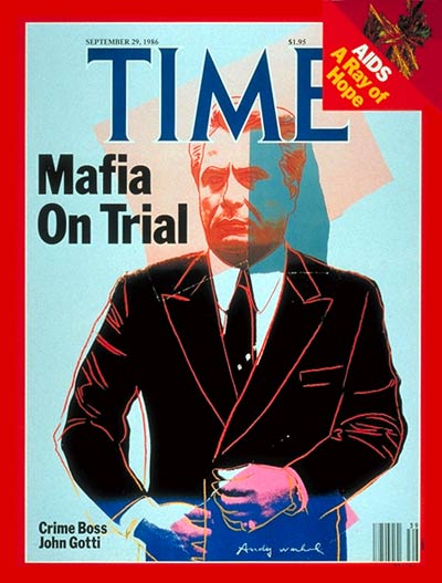 time september september 29 1986 mafia on trail cover portrait by andy warhol