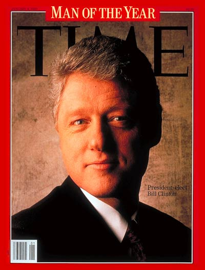 TIME Magazine Cover: Bill Clinton, Man of the Year - Jan. 4, 1993 - Bill Clinton - Person of the Year - U.S. Presidents