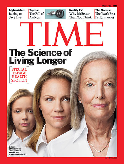 Time Magazine Cover The Science Of Living Longer Feb 22 2010 Aging Health Medicine
