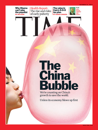 TIME Magazine Cover: The China Bubble - Oct. 31, 2011 ...