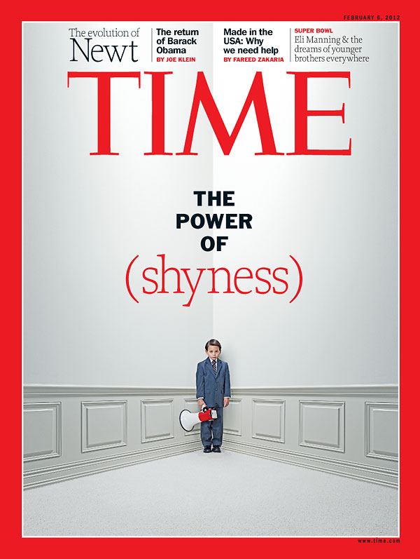 Time Magazine Cover The Power Of Shyness Feb 6 2012 Babies