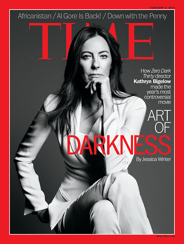 Black and white portrait of director kathryn bigelow