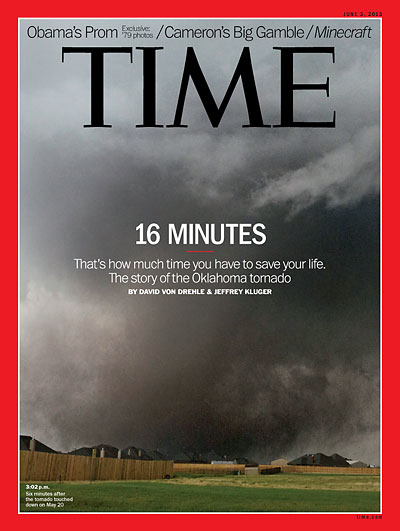 TIME Magazine Cover: 16 Minutes - June 3, 2013 - Weather ...