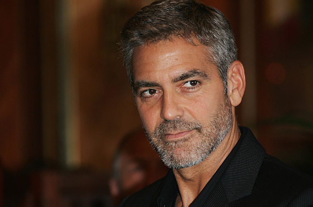 George Clooney Natural Hair Color