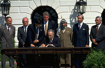 Image result for israel and palestine sign a major accord